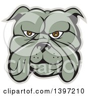 Clipart Of A Cartoon Bulldog Face Royalty Free Vector Illustration by patrimonio