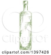 Sketched Oil Bottle