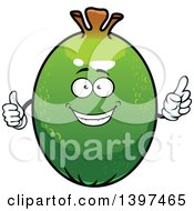 Clipart Of A Pineapple Guava Character Royalty Free Vector Illustration