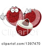 Clipart Of A Lychee Fruit Character Royalty Free Vector Illustration