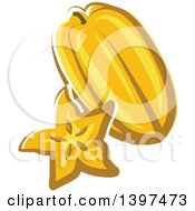 Clipart Of A Carambola Starfruit Royalty Free Vector Illustration