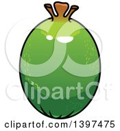 Clipart Of A Pineapple Guava Royalty Free Vector Illustration
