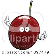 Clipart Of A Passion Fruit Character Royalty Free Vector Illustration