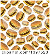 Clipart Of A Seamless Background Pattern Of Cheeseburgers Royalty Free Vector Illustration by Vector Tradition SM
