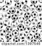 Seamless Background Pattern Of Soccer Balls