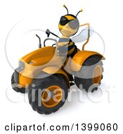 Poster, Art Print Of 3d Male Bee On A White Background