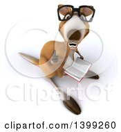 Clipart Of A 3d Kangaroo On A White Background Royalty Free Illustration