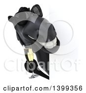 Clipart Of A 3d Black Horse On A White Background Royalty Free Illustration