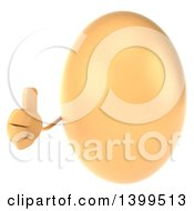 Clipart Of A 3d Egg Character On A White Background Royalty Free Illustration by Julos
