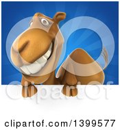 Clipart Of A 3d Camel Royalty Free Illustration