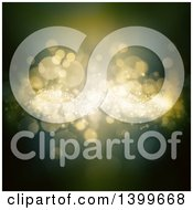 Clipart Of A Background Of Blurred Bokeh Flares Royalty Free Illustration