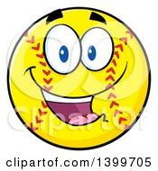 Clipart Of A Cartoon Male Softball Character Mascot Royalty Free Vector Illustration