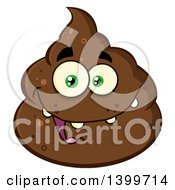 Clipart Of A Cartoon Pile Of Poop Character Royalty Free Vector Illustration