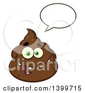 Clipart Of A Cartoon Pile Of Poop Character Talking Royalty Free Vector Illustration