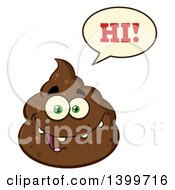 Clipart Of A Cartoon Pile Of Poop Character Saying Hi Royalty Free Vector Illustration