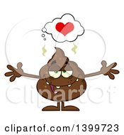 Clipart Of A Cartoon Loving Pile Of Poop Character With Open Arms Royalty Free Vector Illustration