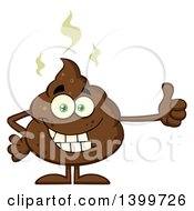 Clipart Of A Cartoon Pile Of Poop Character Giving A Thumb Up Royalty Free Vector Illustration