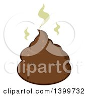 Clipart Of A Cartoon Stinky Pile Of Poop Royalty Free Vector Illustration by Hit Toon