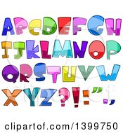 Clipart Of Cartoon Colorful Capital Alphabet Letters And Punctuation Royalty Free Vector Illustration