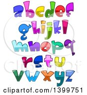 Cartoon Colorful Lowercase Alphabet Letters And Punctuation