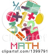 Clipart Of Patterned Math Designs Royalty Free Vector Illustration