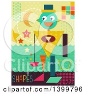 Clipart Of A Patterned Robot With Shapes Royalty Free Vector Illustration by BNP Design Studio