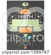 Clipart Of A Math Design With Symbols And Numbers Royalty Free Vector Illustration