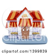 Clipart Of A Fast Food Restaurant Building Royalty Free Vector Illustration by BNP Design Studio