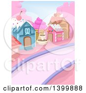 Clipart Of A Town Made Of Candy And Sweets Royalty Free Vector Illustration