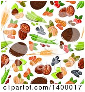 Seamless Background Pattern Of Food