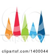 Clipart Of A Colorful Reflective Bar Graph Royalty Free Vector Illustration by Vector Tradition SM