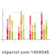 Clipart Of A Colorful Bar Graph Royalty Free Vector Illustration by Vector Tradition SM