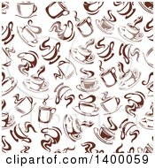 Clipart Of A Seamless Background Pattern Of Coffee Royalty Free Vector Illustration