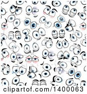 Clipart Of A Seamless Background Pattern Of Eyes Royalty Free Vector Illustration by Vector Tradition SM
