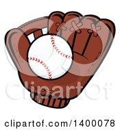 Poster, Art Print Of Baseball In A Glove
