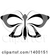 Clipart Of A Black And White Butterfly Royalty Free Vector Illustration