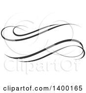 Black And White Calligraphic Design Element
