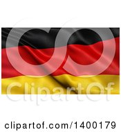 Clipart Of A 3d Waving German Flag Royalty Free Illustration