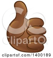 Clipart Of A Smiley Emoji Hand Holding A Thumb Up Royalty Free Vector Illustration