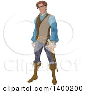 Clipart Of A Prince With A Mad Expression Royalty Free Vector Illustration