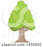 Clipart Of A Mature Pyramidal Tree With A Royalty Free Vector Illustration by Pushkin