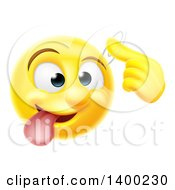 Clipart Of A Yellow Emoji Smiley Emoticon Making A Screw Loose Gesture Royalty Free Vector Illustration