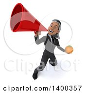 Clipart Of A 3d Young Arabian Businessman On A White Background Royalty Free Illustration