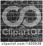 Clipart Of A Background Of A Black Industrial Brick Wall Royalty Free Vector Illustration by KJ Pargeter
