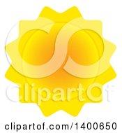 Clipart Of A Summer Sun Royalty Free Vector Illustration