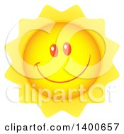 Clipart Of A Happy Sun Smiling Royalty Free Vector Illustration