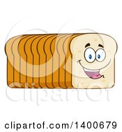 Clipart Of A Loaf Of Sliced Bread Character Mascot Royalty Free Vector Illustration by Hit Toon