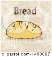 Clipart Of A Loaf Of Bread And Text Royalty Free Vector Illustration by Hit Toon