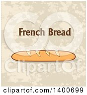 Clipart Of A Loaf Of French Bread And Text Royalty Free Vector Illustration by Hit Toon