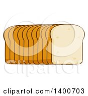 Clipart Of A Loaf Of Sliced Bread Royalty Free Vector Illustration by Hit Toon
